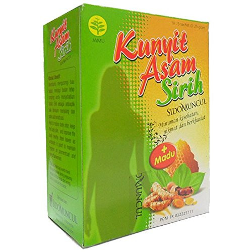 Sidomuncul Kunyit Asam Sirih - Turmeric and Tamarind Plus LemongrassHerbal Drink 5-ct, 125 Gram