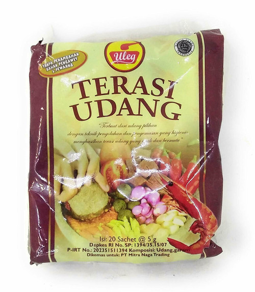 Uleg Terasi Udang (Shrimp Paste Seasoning) single-use 5gX20 pieces Balacan