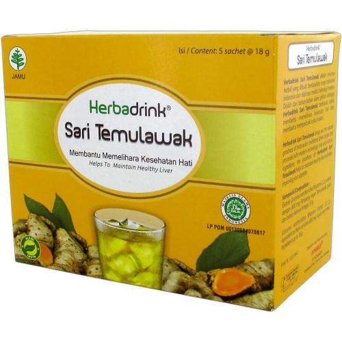 Herbadrink Temulawak, 1 Pack (5 sachet @18gr)