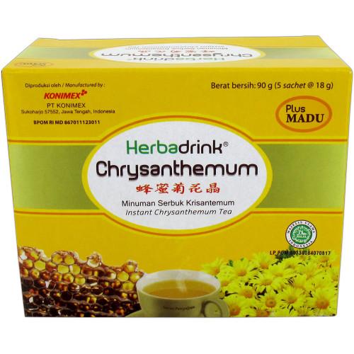 Herbadrink CHRYSANTHEMUM plus Honey, 1 Pack (5 sachet @18gr)