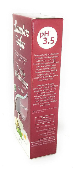 Sumber Ayu Vaginal Cleanser Containing Whitening Extract, From Natural Herbal: Piper Betle Leaves, Manjakani, Kayu Rapet