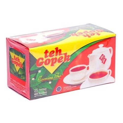 Gopek Teh Celup Melati 50 Gram Jasmine Tea Bags 25-ct @ 2gr with Envelope
