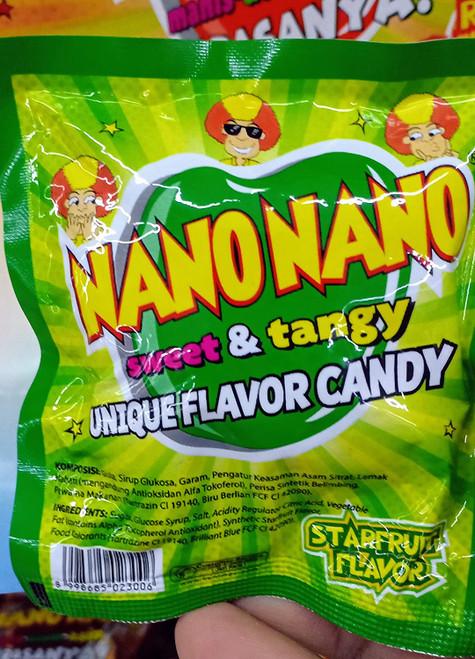 Nano Nano Manis Asem Asin Rasa Belimbing (Star Fruit) Candy, 12.5 gr (6 sachets)