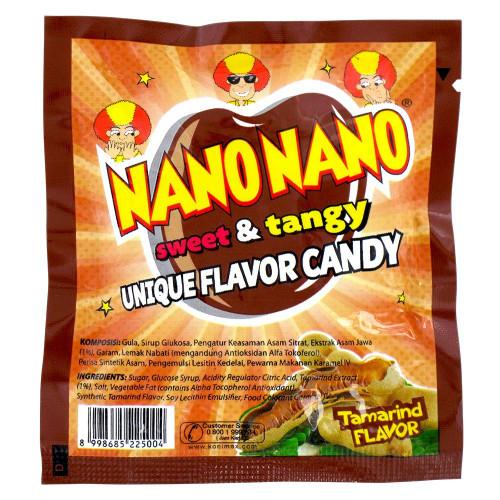 Nano Nano Rasa Asam Jawa (Tamarind Flavor) Candy, 12.5 gr (6 sachets)