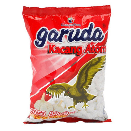 Garuda Kacang Atom Rasa Bawang - Coated Peanuts Garlic Flavor, 14.10 Oz