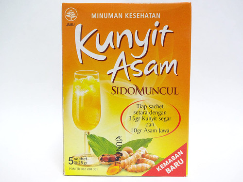SIDOMUNCUL turmeric acid jamu powder juice Kunyit Asam 25gX5 bags