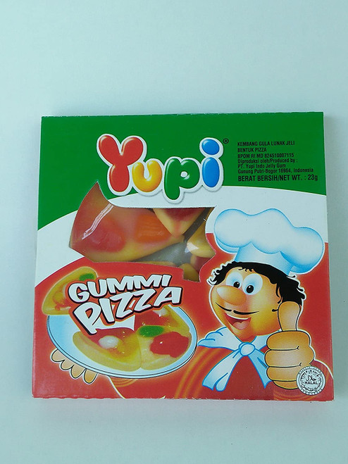 Yupi Gummy Candy Gummi Pizza, 23 Gram (Pack of 10)