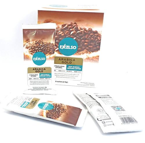 Excelso Arabica Gold Ground Coffee, 100 Gram (10 sachet @10g)