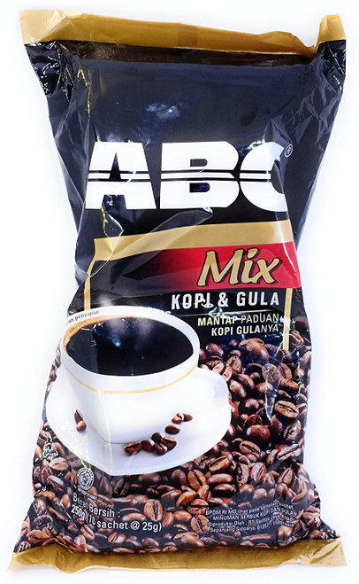 ABC Mix Kopi & Gula (Coffee & Sugar) 10-ct, 250 Gram