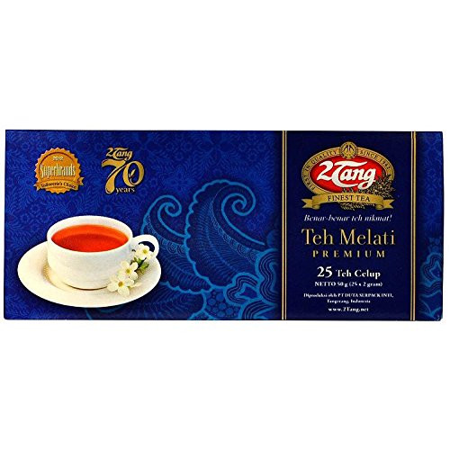 2Tang (2 Tang) Teh Melati Premium - Jasmine Tea 25-ct, 1.76 Oz