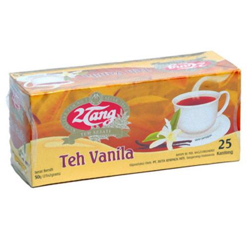 2tang (2 Tang) Teh Vanila - Vanilla Flavor 25-ct Tea Bags, 50 Gram
