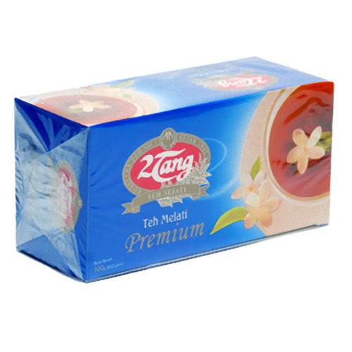 2tang Premium Jasmine Tea Teh Melati 50 Gram - 25-ct Tea Bags 2gr Foil Pack
