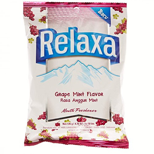 Relaxa Candy Grape Mint, 135 gram