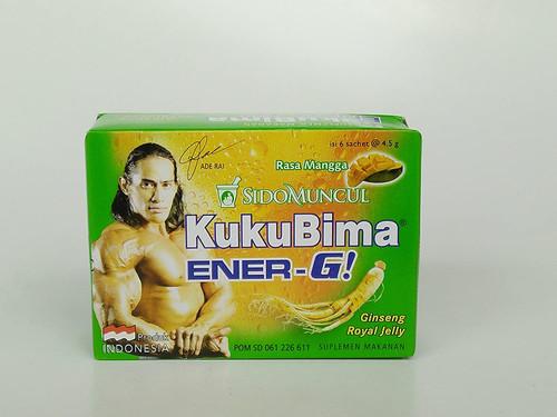 Sido Muncul Kuku Bima Ener-G! Energy Drink Powder (Mango) 6-ct
