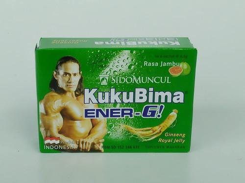 Sido Muncul Kuku Bima Ener-G! Energy Drink Powder (Guava) 6-ct