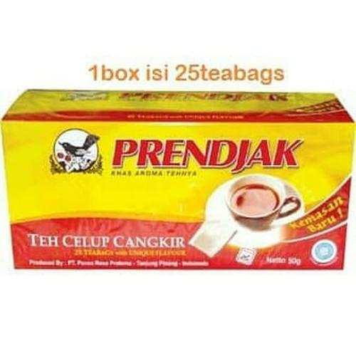 Prendjak Teh Celup Wangi - Black Tea with Rose Aroma 25-ct, 50 Gram