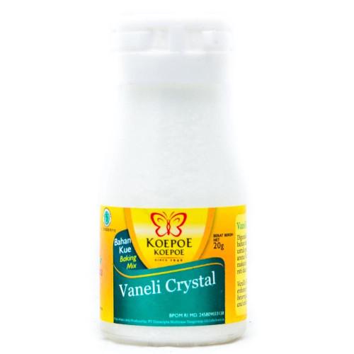 Koepoe-koepoe Vaneli Crystal - Vanilla Flavor Enhancer, 20 Gram