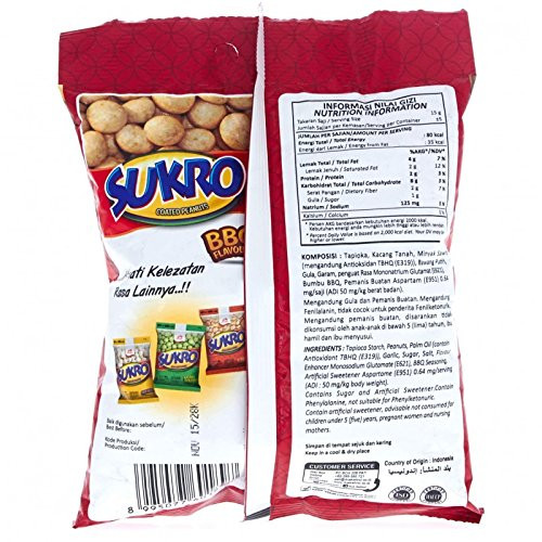 Dua Kelinci Kacang Sukro Barbeque, 140 Gram