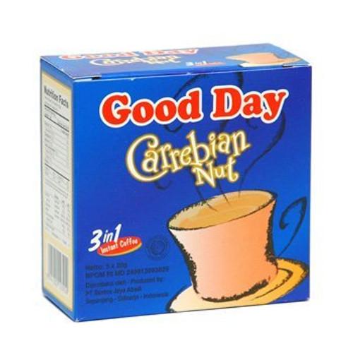 Good Day Carrebian Nut Coffee 100 Gram (3.52 Oz) Instant Hazelnuts Flavor 5-ct @ 20 Gram