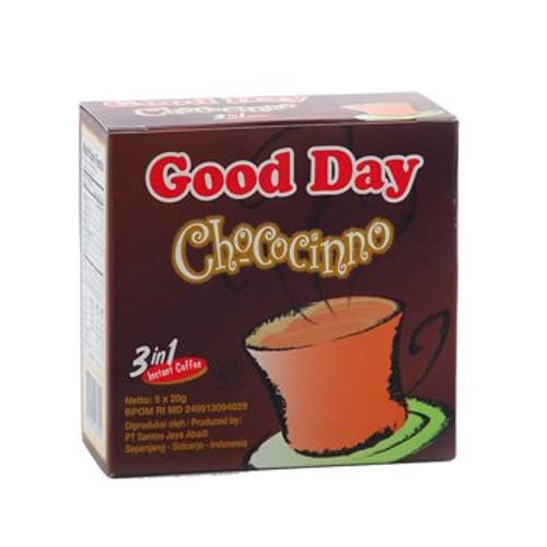 Good Day Chococinno Coffee 100 Gram (3.52 Oz) Instant Chocolate Flavor 5-ct @ 20 Gram