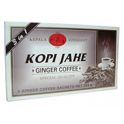 Kepala Djenggot Kopi Jahe, 204 gram / 6 sachet x 34 gram