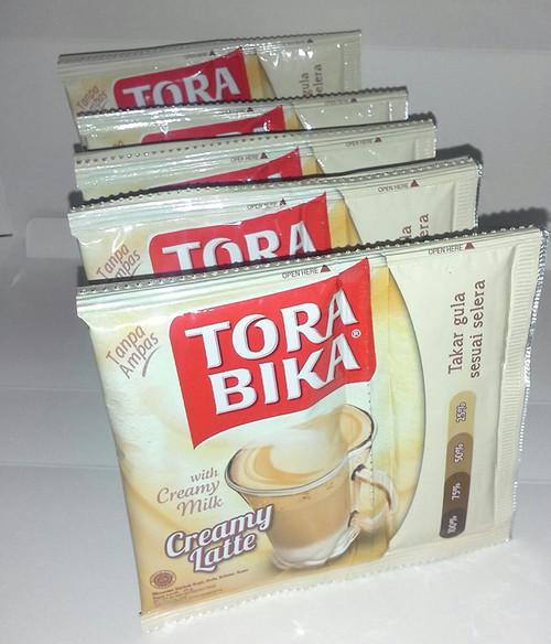 Torabika Creamy Latte 3in1 Instant Cofffe with Additional Sugar 10 Sachet, From Original Fabric in Indonesia