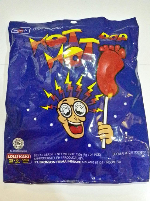 Hot Hot Pop Foot Lolli (Permen Kaki) , 125 Gram