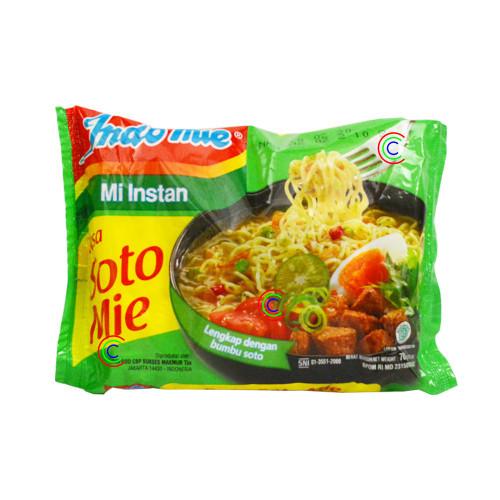 Indomie Instant Noodle Soto Mie , 70 Gram (1 pcs)