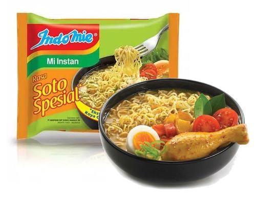 Indomie Instant Noodle Soto Spesial - with extra Koya , 75 Gram (1 pcs)