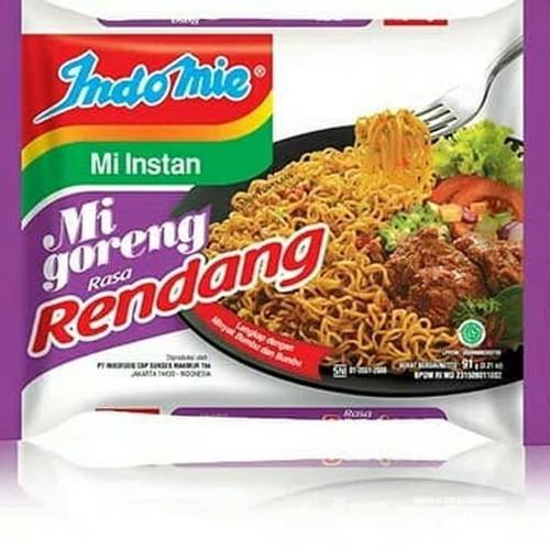 Indomie Instant Noodle Mi Goreng Rendang, 91 Gram (1 pcs)