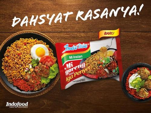 Indomie Instant Noodle Mi Goreng Rasa Iga Penyet, 80 Gram (1 pcs)
