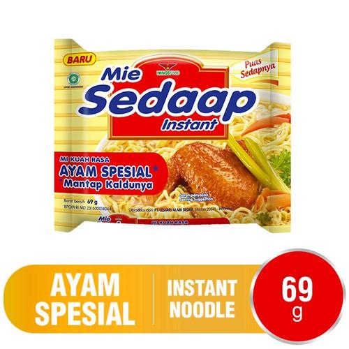 Sedaap Instant Noodle Mi Ayam Special, 69 Gram (1 pcs)