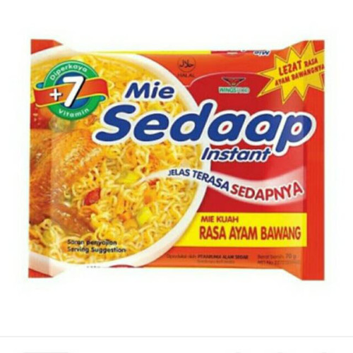 Sedaap Instant Noodle Mi Ayam Bawang, 70 Gram (1 pcs)