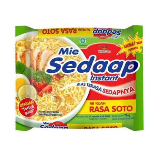 Sedaap Instant Noodle Mi Soto, 75 Gram (1 pcs)