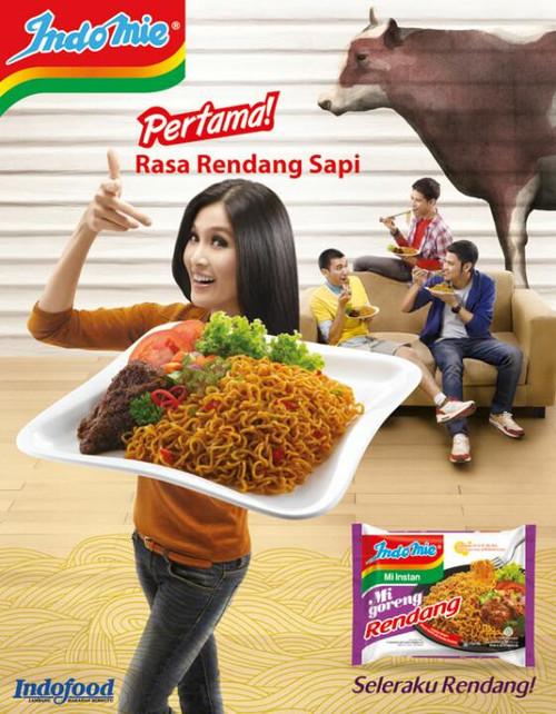 Indomie Instant Noodle Mi Goreng Rendang, 91 Gram (5 pcs)