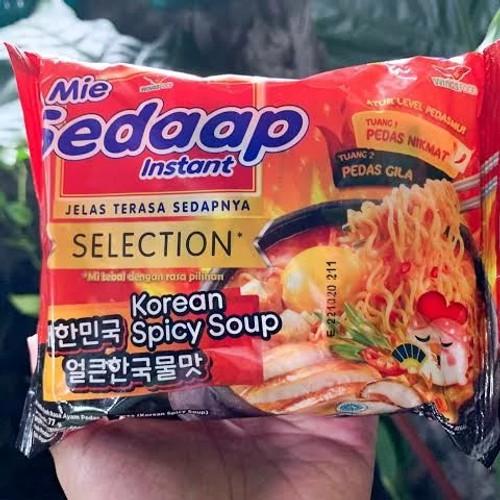 Sedaap Instant Noodle Mi Korean Spicy Soup, 77 Gram (5 pcs)