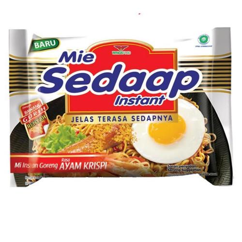 Sedaap Instant Noodle Mi Goreng Ayam Krispi, 88 Gram (5 pcs)