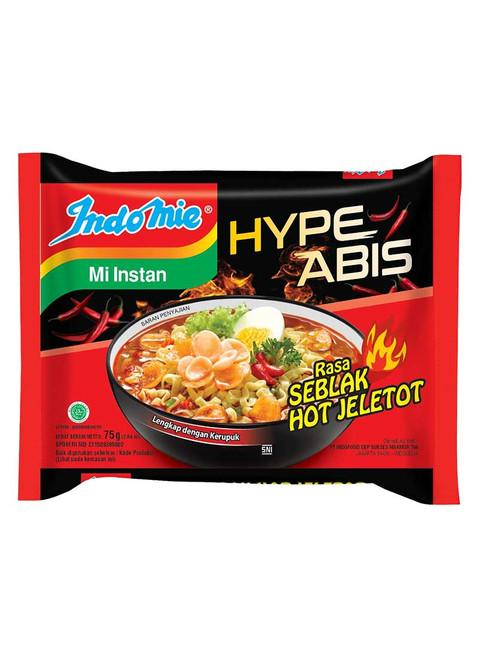 Indomie Instant Noodle Mi Goreng Rasa Seblak Hot Jeletot, 75 Gram (5 pcs)