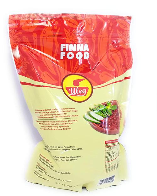 Finna Uleg Sambal Terasi (Chili Shrimp Paste), 1 Kg