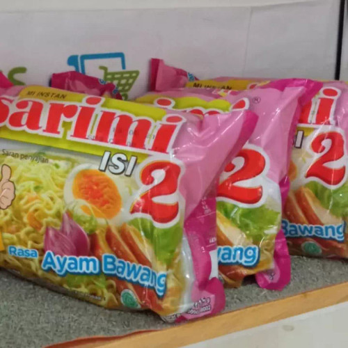Sarimi Instant Noodle Mi Isi 2 Ayam Bawang, 115 Gram (5 pcs)
