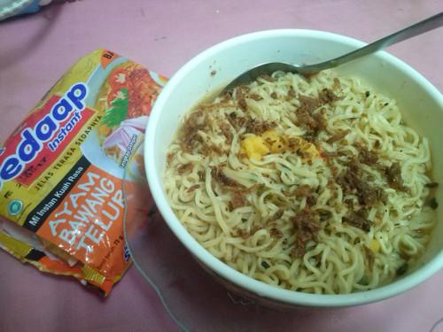 Sedaap Instant Noodle Mi Ayam Bawang Telur, 73 Gram (1 pcs)