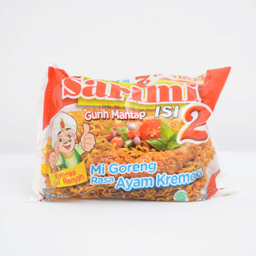 Sarimi Instant Noodle Mi Goreng Isi 2 Rasa Ayam Kremes, 115 Gram (1 pcs)