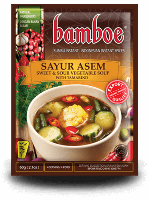 Bamboe Sayur Asem Vegetable Soup, Sour Tamarind, 2.1-Ounce
