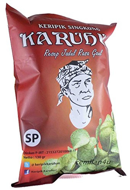 Karuhun Keripik Singkong (Cassava Chips) Level SP - Very Hot, 130 Gram