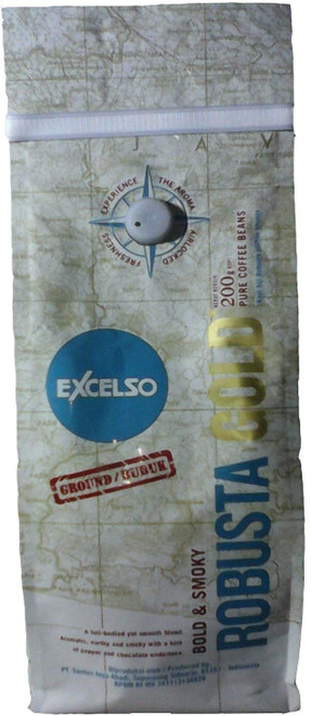 Excelso Robusta Gold Coffee Factory Ground 200 Gram (7.05 Oz) Pouch