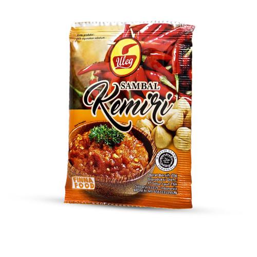 Uleg Sambal Kemiri (pecan sauce), 20 Gram (10 Sachets)