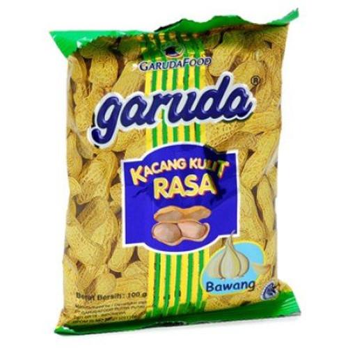 Garuda Food Kacang Kulit Rasa Bawang - Roasted Peanuts Garlic Flavor, 3.52 Oz