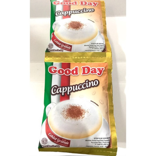 Good Day Cappuccino with Chocolate Granule Instant Coffee 10-ct, 250 gr
