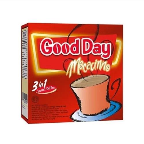 Good Day Moccacino 100 Gram (3.52 Oz) Instant moccacinno Flavor 5-ct @ 20 Gram
