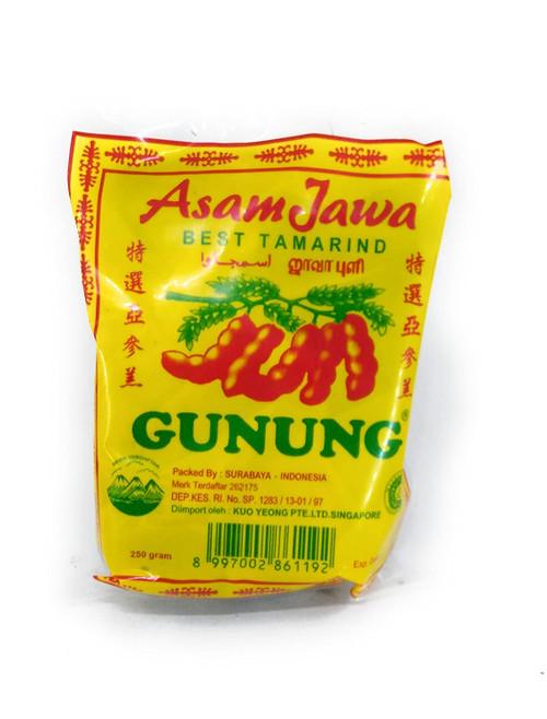 Cap Gunung Asam Jawa Tanpa Biji - Seedless Wet Java Tamarind, 250 Gram (8.81 Oz)
